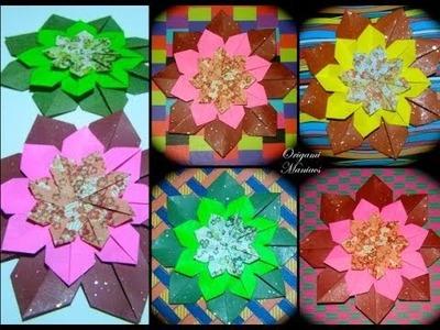 Origami Maniacs 130: Mandala To Decorate the Card.Mandala Para Decorar La Tarjeta