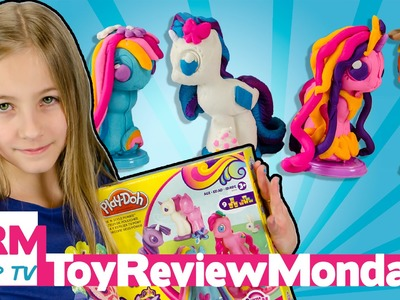 PLAY-DOH MY LITTLE PONY Make 'n Style Ponies MLP Rainbow Dash Rarity Applejack | Toy Review Monday