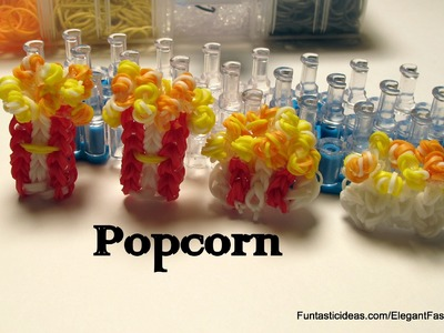 Popcorn charm - How to Rainbow Loom - Food Series