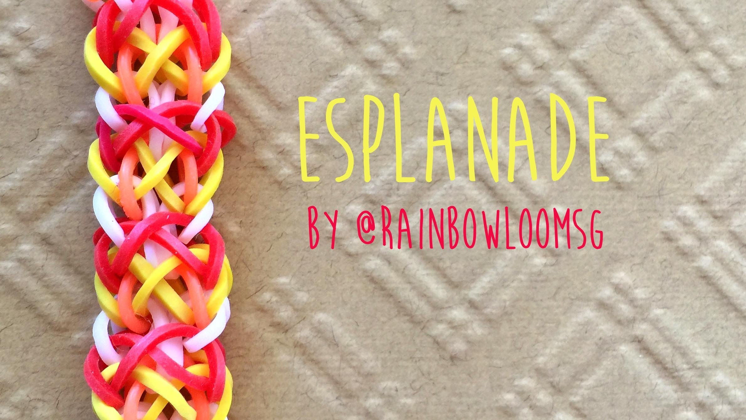 Rainbow Loom Band Esplanade Bracelet by @RainbowLoomSG