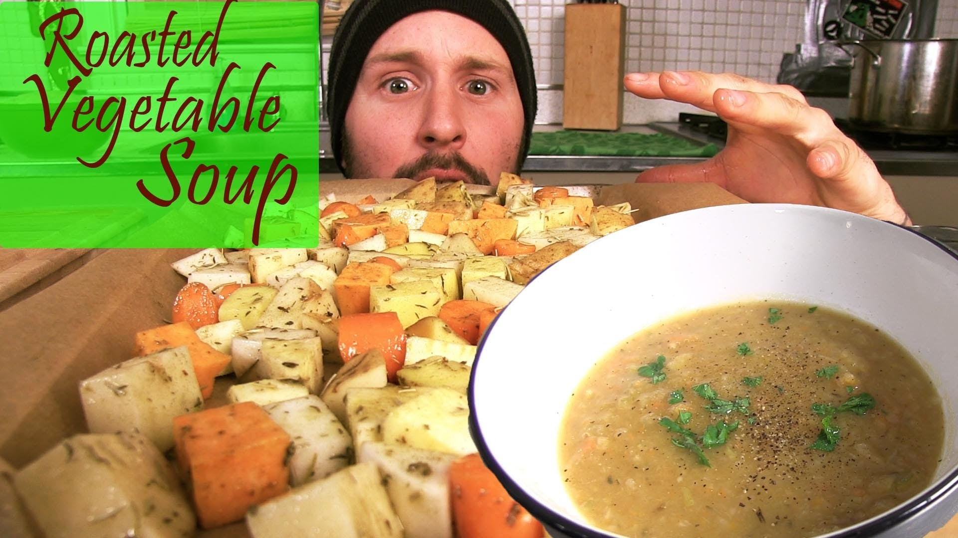 Roasted Vegetable Soup - The Vegan Zombie