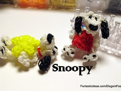 Snoopy Dog Charm - How to Rainbow Loom - Animal Series