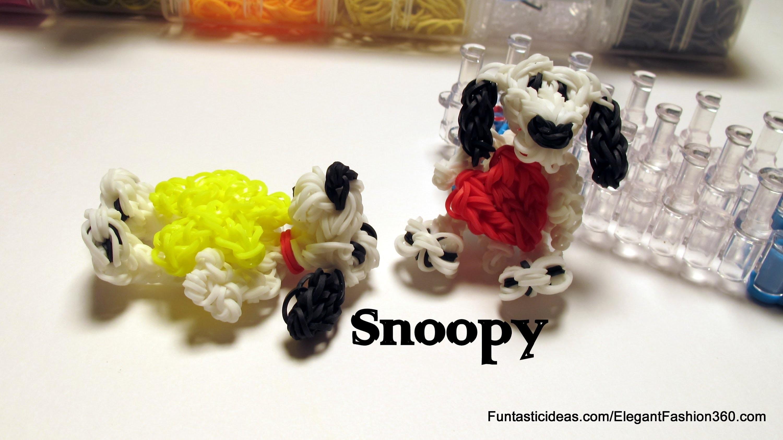 Snoopy Dog Charm - How to Rainbow Loom - Animal Series