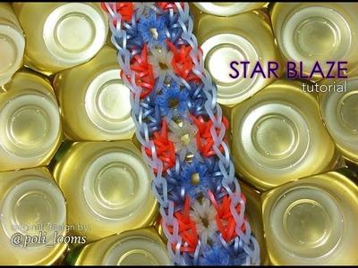 STAR BLAZE Rainbow Loom bracelet tutorial