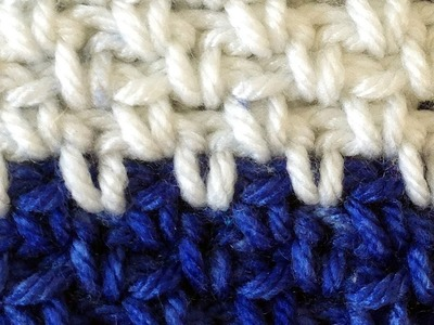 Stitch Repeat Seed Stitch Free Crochet Pattern - Left Handed