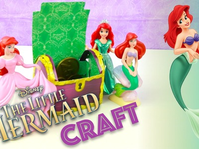 The Little Mermaid Ariel Treasure Chest Punch-out Paper Craft - Disney Princess Crafts Book