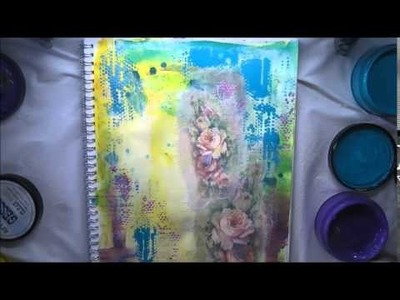 Tissue Paper & how to Journaling in Colour Tutorial #4 'Life. ' Dylusions Paints