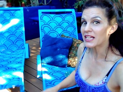 Trash to treasure DIY! How I painted $1000 chaise lounges found on the street