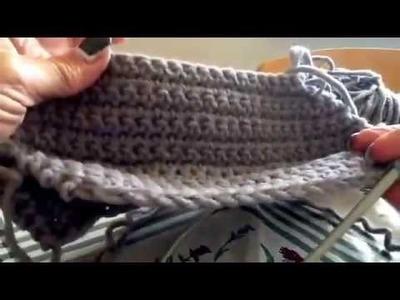 Visiera su berretto per signora in lana -  Tutorial completo sul blog iopensoame.blogspot.it