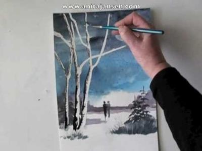 "Watercolour demo aquarelle  ""A walk to remember"""