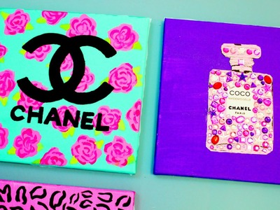 Chanel Perfume Bottle DIY Painting! Cute, Easy, Girly, & Fun! Fashion Inspired