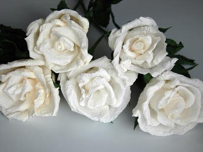 Crepe paper flowers - Amazing White DIY paper flowers