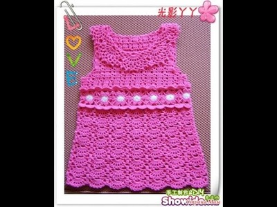 Crochet baby dress| How to crochet an easy shell stitch baby. girl's dress for beginners 233