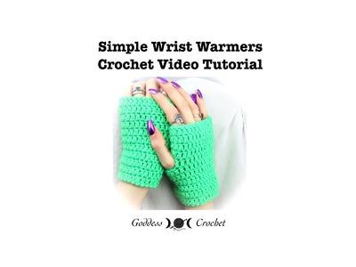 Crochet Tutorial - Easy Wrist Warmers