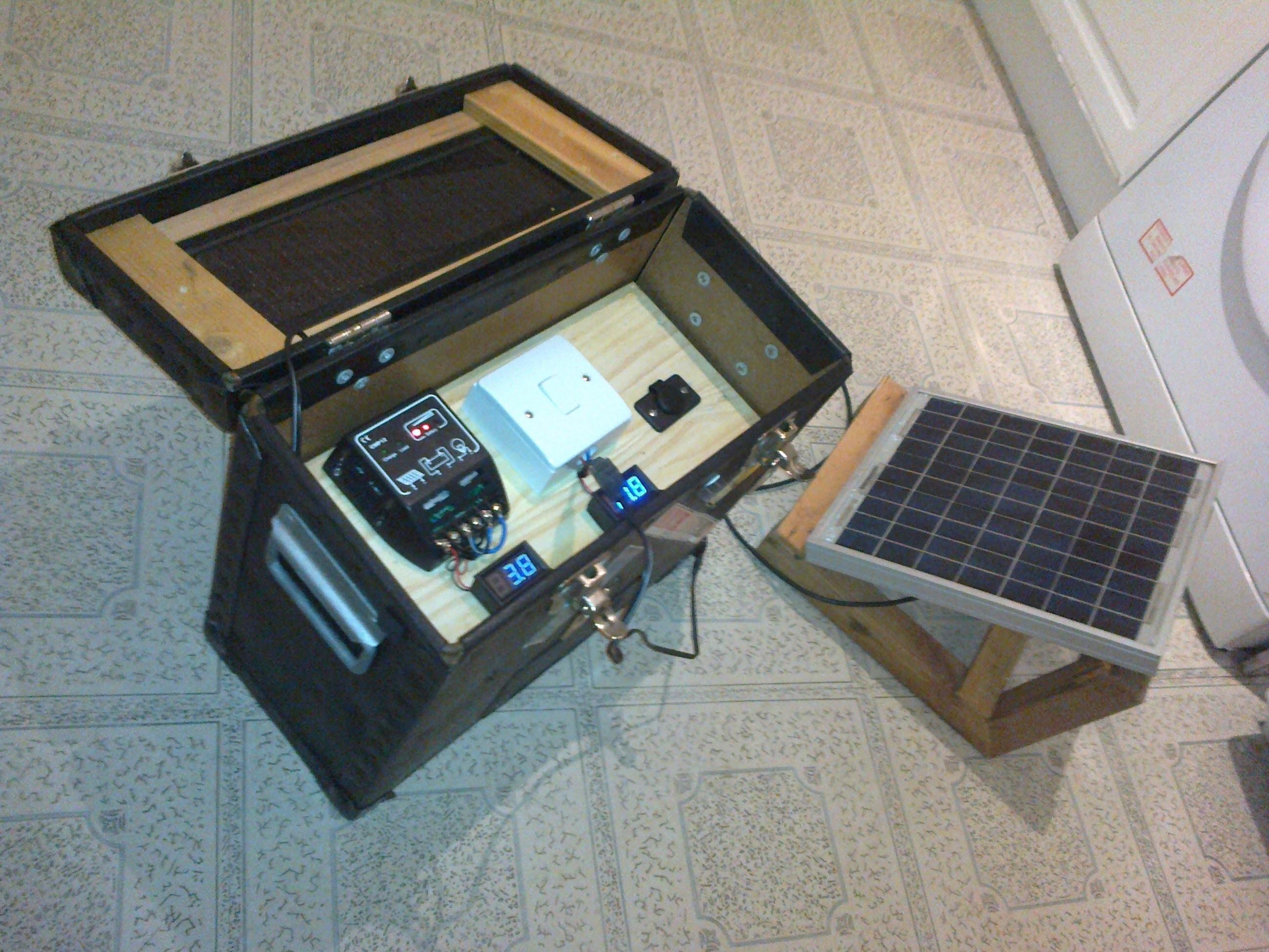 D.I.Y mini solar generator
