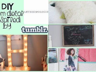 DIY Anthropologie & Tumblr ROOM DECOR + Room Update