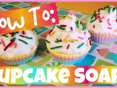DIY: CUPCAKE SOAP - Easy, Cute - Melt + Pour How To!  | CraftieAngie