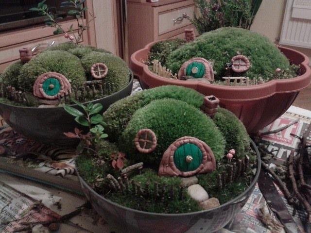 DIY hobbit house mini garden