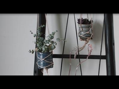 DIY: Macramé plant hanger by Monsterscircus and Søstrene Grene