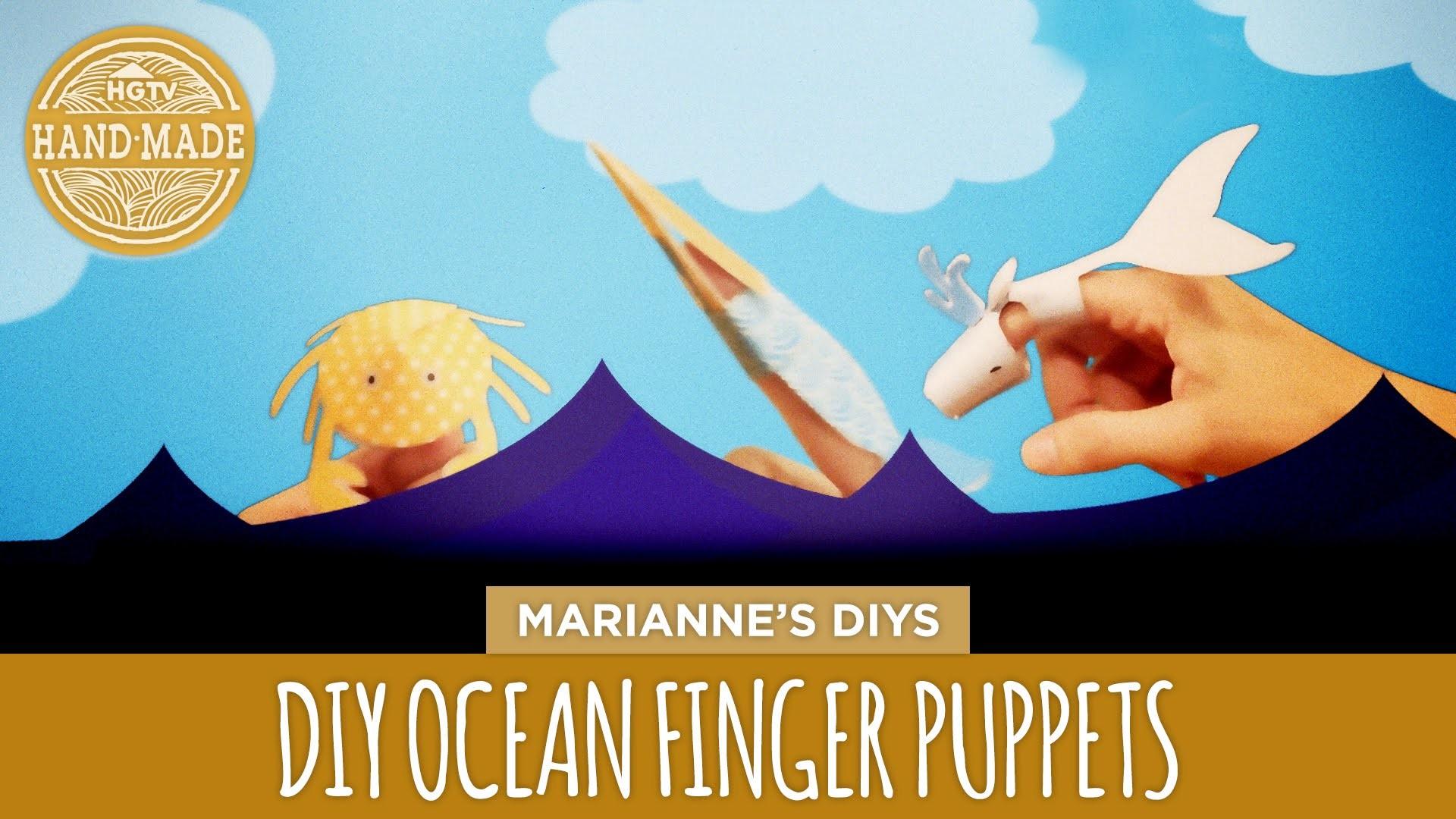 DIY Ocean Finger Puppets - HGTV Handmade