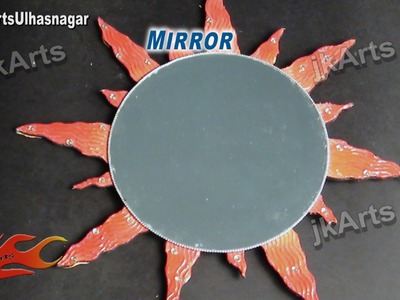 DIY sunburst Mirror Wall Hanging | How to Make | JK Arts 512
