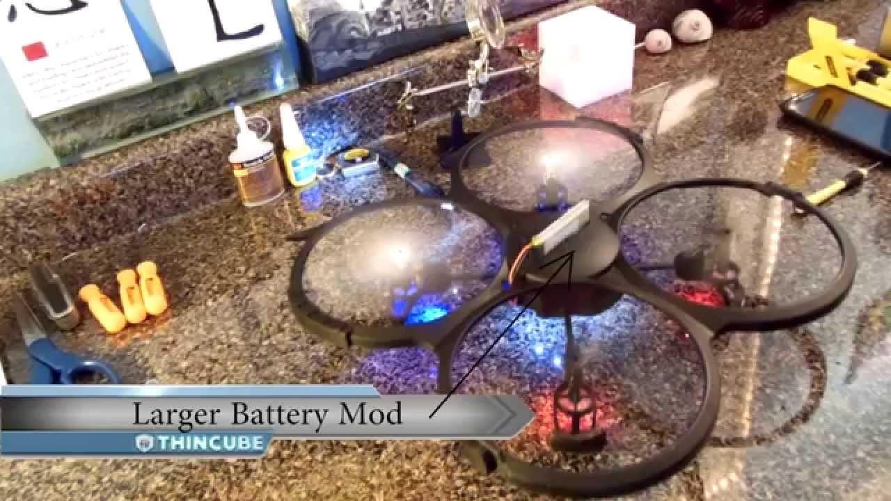 Drone Quadcopter UDI U818 (& U818A-1 Discovery) Easy DIY Mod for longer flight times - DroneTube