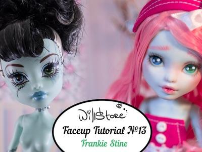 Faceup Tutorial №13 Frankie Stein Monster High repaint custom doll