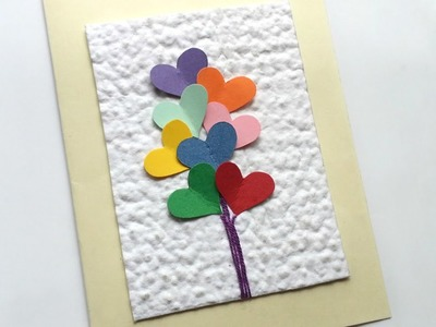 How To Create A Colorful Heart Balloon Card - DIY Crafts Tutorial - Guidecentral