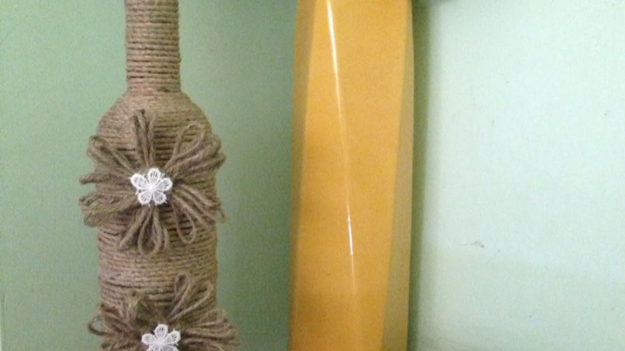 How To Create Pretty Twine - DIY Covered Wine Bottles Tutorial - Home