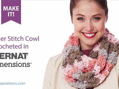 How To Crochet Stagger Stitch Cowl