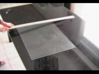 How to cut glass - table break
