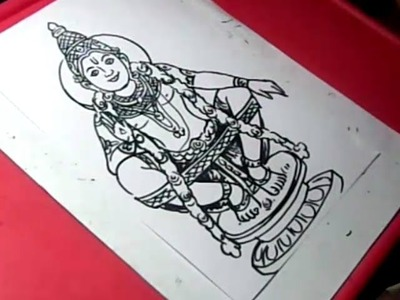 How to Draw LORD AYYAPPA DRAWING for KIDS