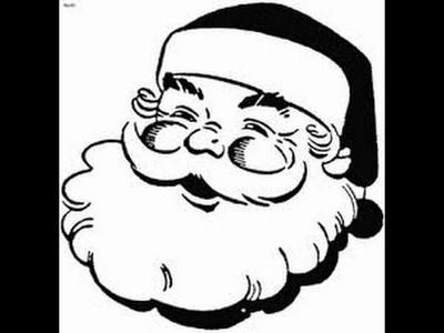 How to draw santa claus face