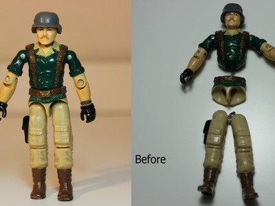 How to fix a G.I.Joe Action Force action figure using Rainbow Loom bands
