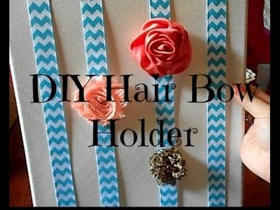 How to Hair Bow holder {Super easy}