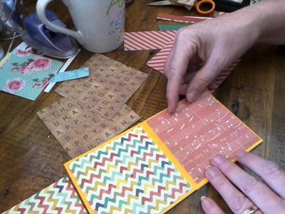 How to make a 4x4 photo mini album brag book, 12x12 paper