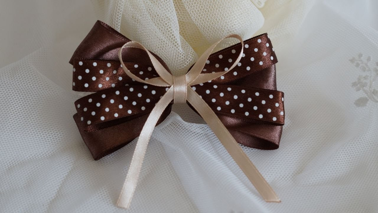 How To Make A Beautiful Bow Knot Of Satin Ribbons - DIY Crafts Tutorial - Guidecentral