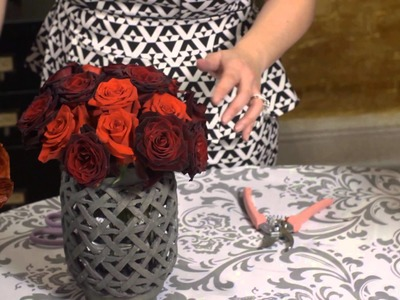 How to Make a Burgundy Red Floral Centerpiece : Event Flowers & Centerpieces