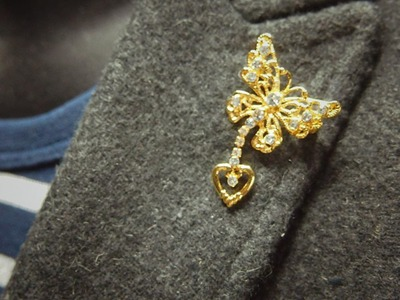 How to make man brooch with easy step for tie or coat