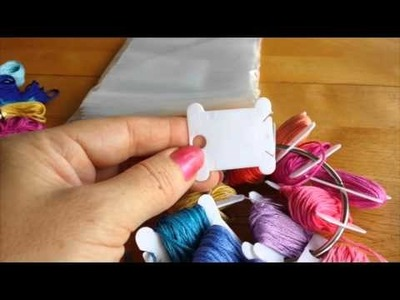 How to organize embroidery floss and wind on bobbins