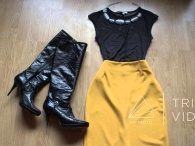 How to put together a yellow skirt outfit