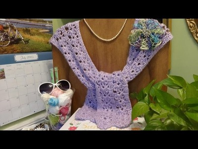 J's Crochet Cross My Heart Lace Wrap. EP. #27.