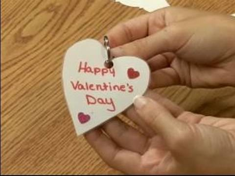 Making Valentine's Day Crafts for Kids : How to Make a Valentine's Day Key Chain for Kids
