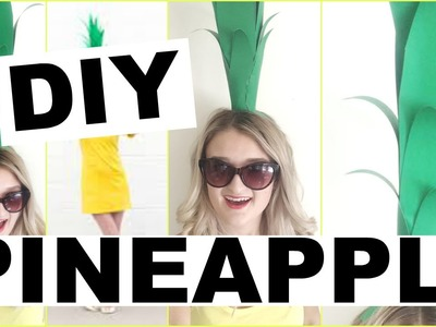 Pineapple Costume DIY! Easy, Cheap, Last Minute Halloween Costumes!!