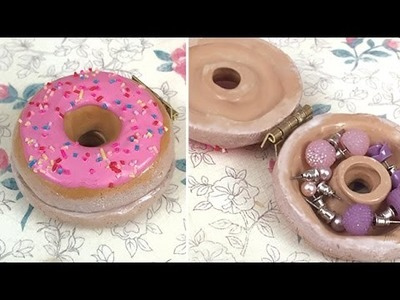 [Polymer Clay] Donut Trinket Box Tutorial