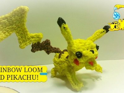 Rainbow Loom 3D Pikachu Pokémon (Part 2.3)