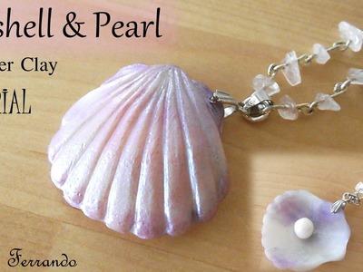 Seashell and Pearl - Polymer Clay Tutorial   Maive Ferrando