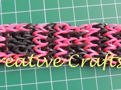 Tutorial pulsera Rainbow Loom con nombre. How to make bracelet Rainbow Loom name.