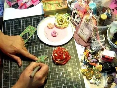 Wire Ribbon Roses Tutorial