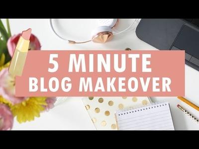 5 MINUTE BLOG MAKEOVER using an Envye Blogger Template